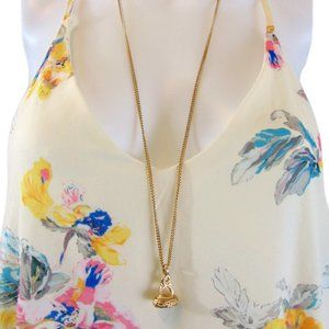 Banana Republic Gold Colored Chain and Pendant NEW